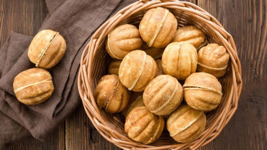 Орешки со сгущенкой в корзине