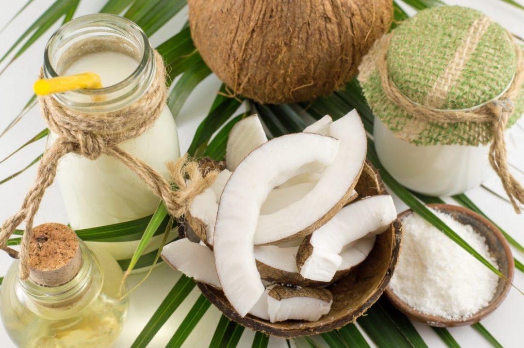 Сколько калорий в сушеном кокосе